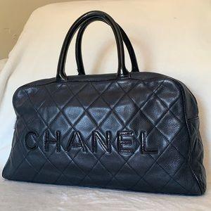 CHANEL Caviar Leather Boston Duffle Doctor Satchel